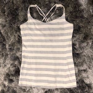 Lululemon Free To Be tank in Gray & White size 8